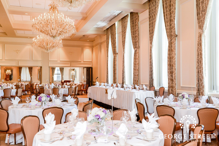 mesmerizing reception hall wedding photography