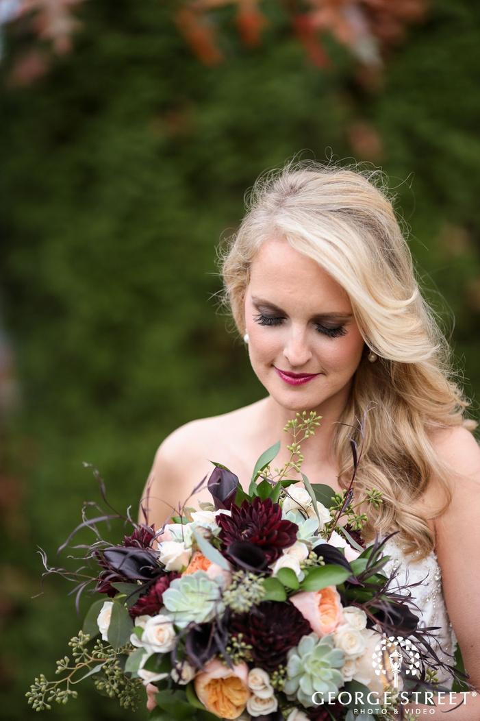 outdoor bridal portrait
