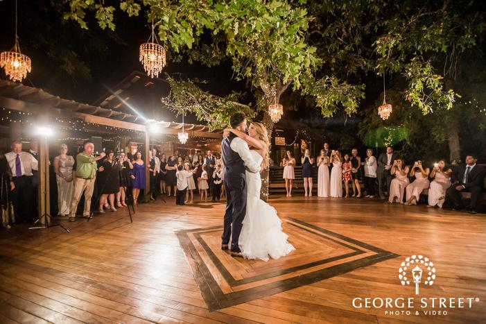 attractive bride and groom reception dance