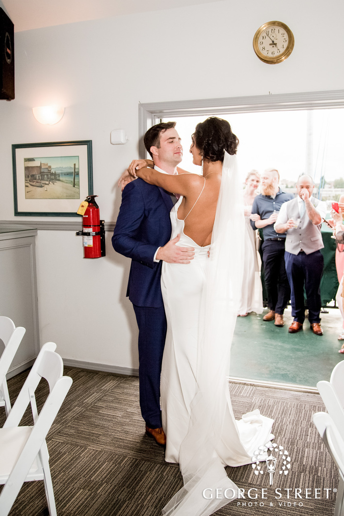 charming bride and groom reception dance