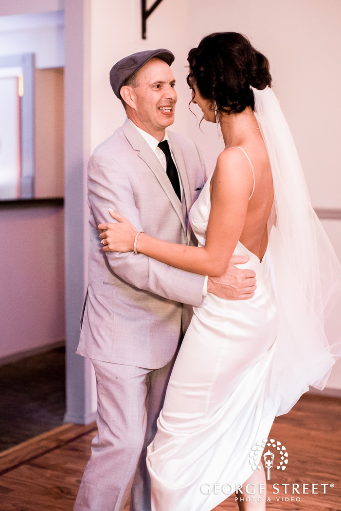 ravishing bride and father reception dance