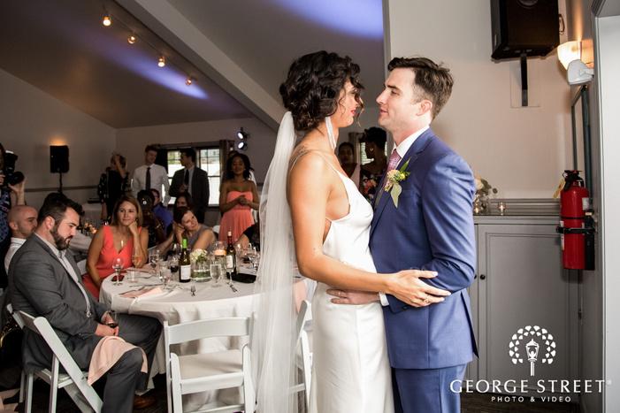 ravishing bride and groom reception dance