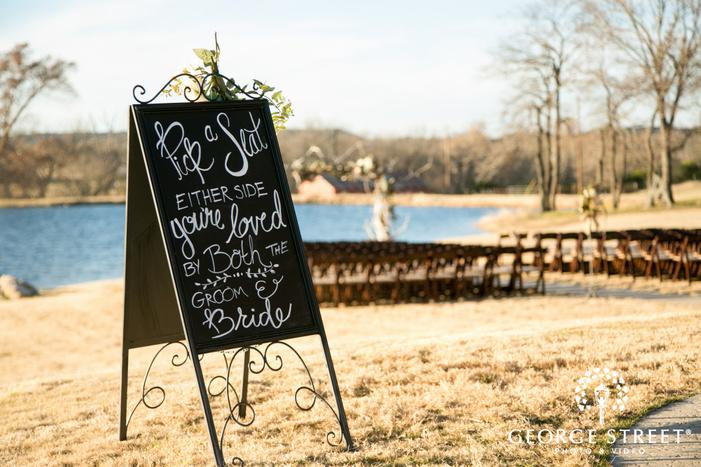 Thistle Springs Ranch wedding ceremony decor