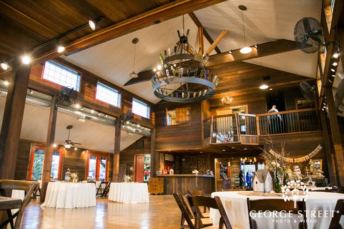Thistle Springs Ranch wedding reception decor