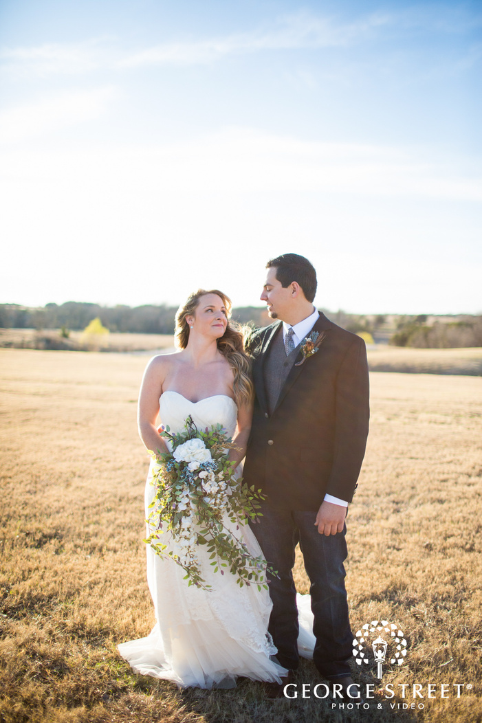bride and groom wedding portrait Thistle Springs Ranch