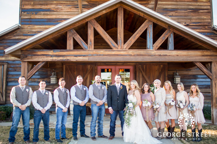wedding party group photo Thistle Springs Ranch