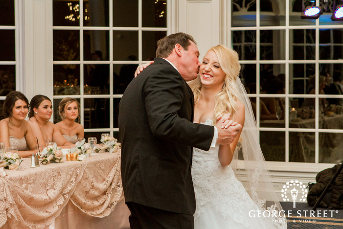 bride and father wedding reception dance creek golf club detroit wedding photos