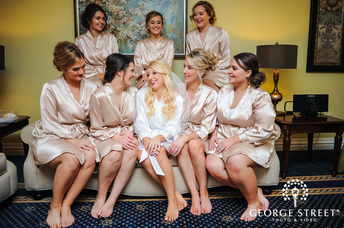 cherry creek golf club beautiful bride and bridemaids on couch detroit wedding photos