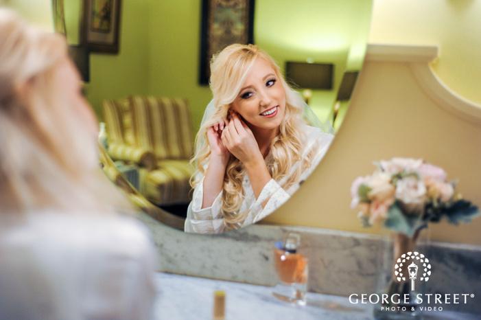 cherry creek golf club beautiful bride in mirror detroit wedding photos