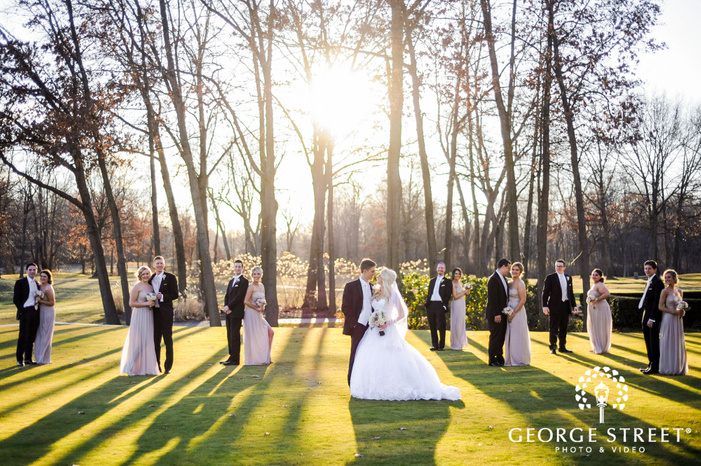cherry creek golf club charming group and couple in woods detroit wedding photos