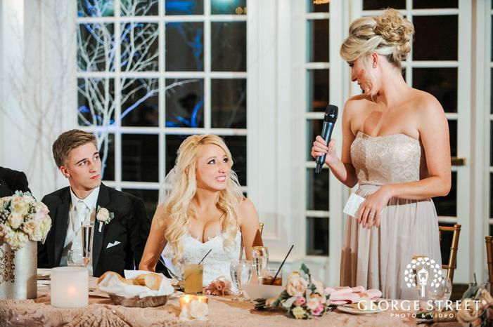 creek golf club pretty bridemaid reception toast detroit wedding photos