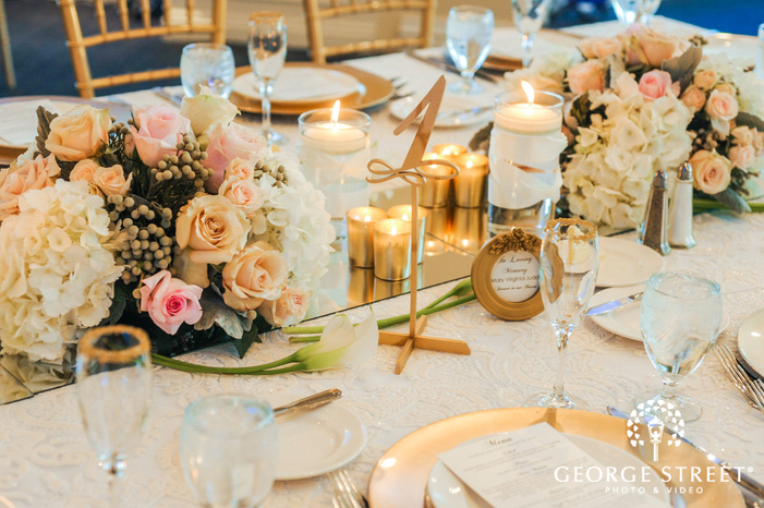 creek golf club reception table details detroit wedding photos