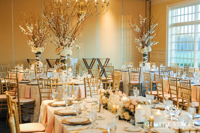 creek golf club wedding reception hall setting detroit wedding photos