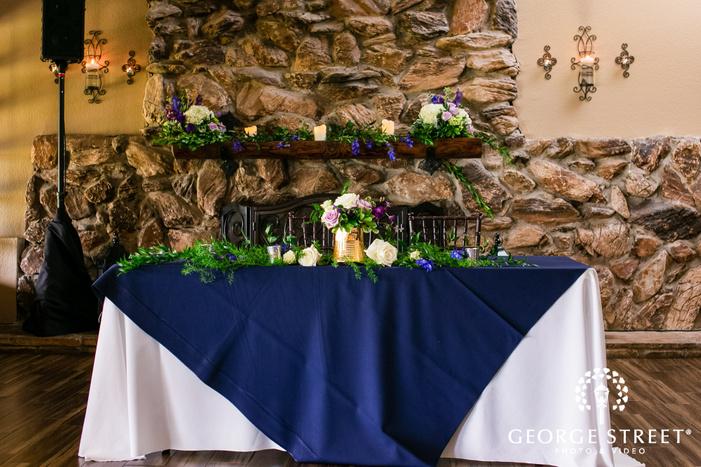 adorable couple reception table wedding photo