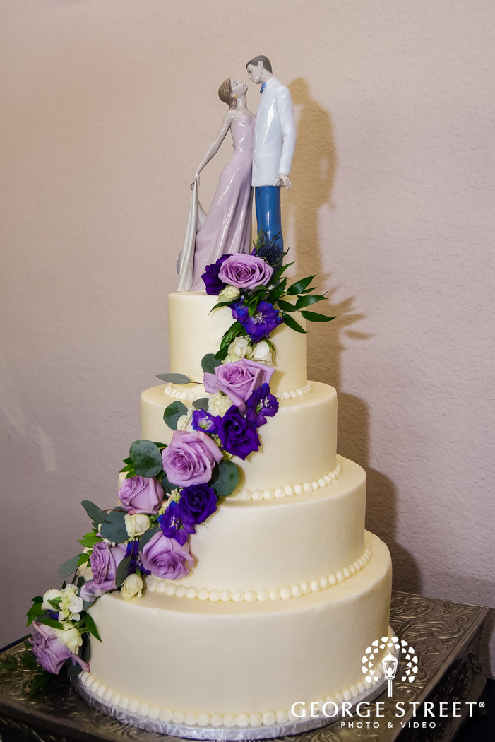adorable four tier wedding cake wedding photo