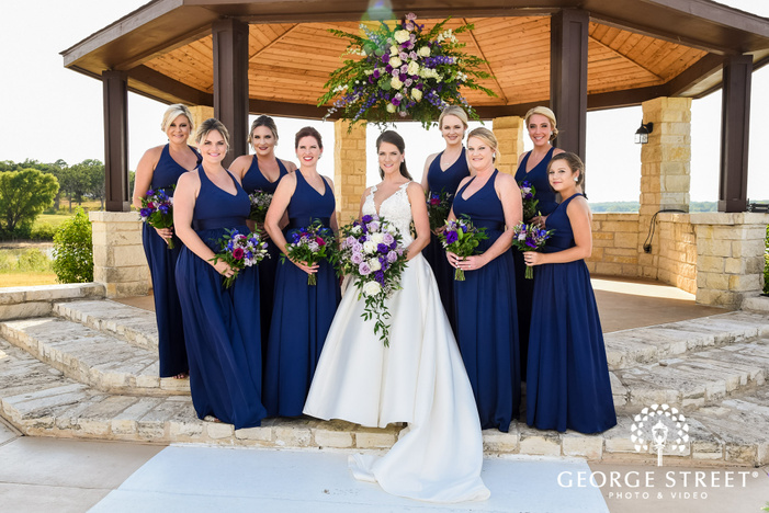 gorgeous bride and friends at gazebo wedding photography