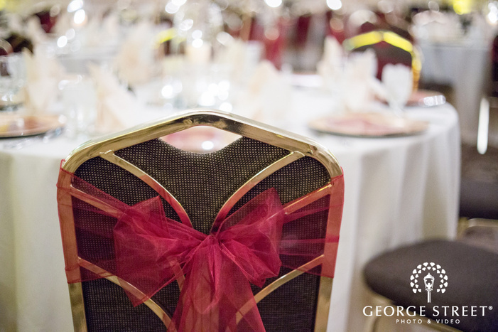 red wedding chair decorations