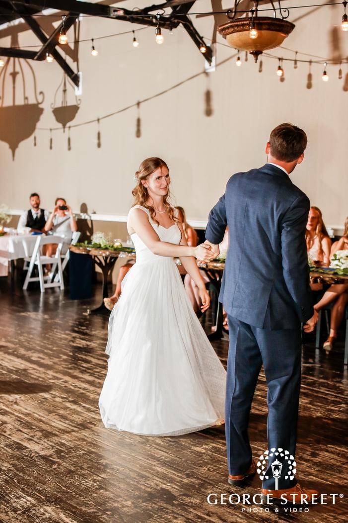 good looking bride and groom reception dance