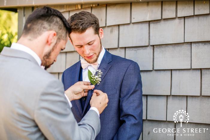 stunning groom getting ready wedding photos