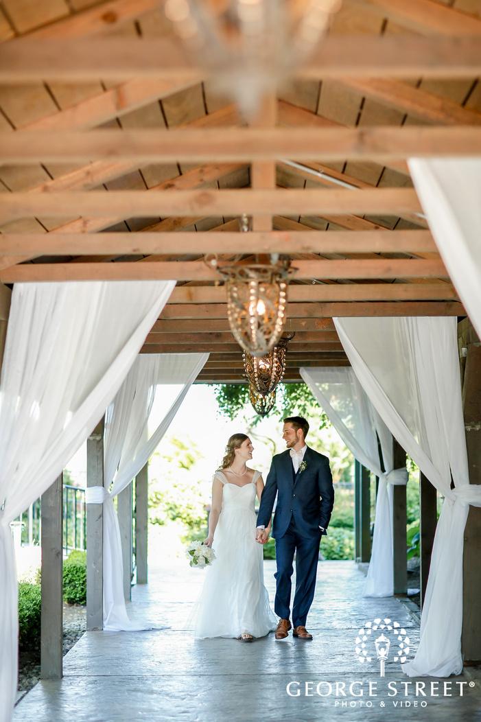sweet bride and groom at hidden meadows in seattle