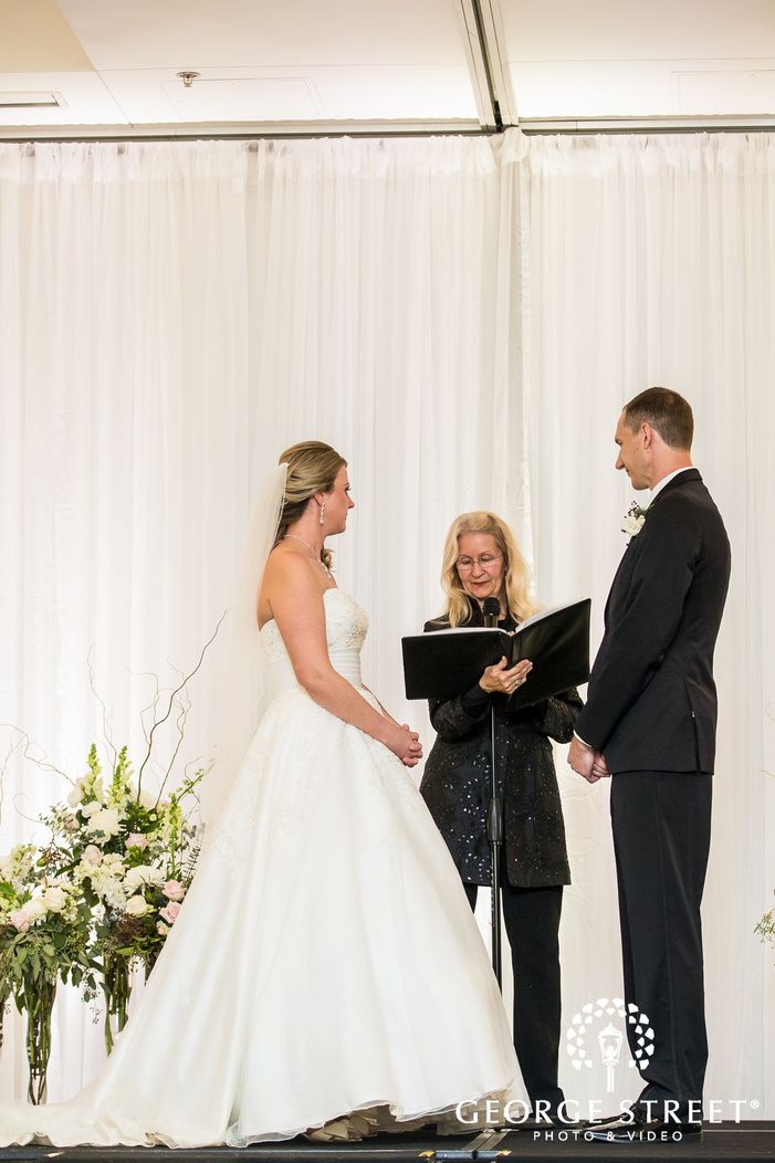 blissed couple on their wedding ceremony in minneapolis wedding photo