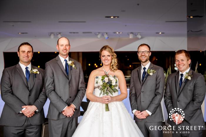 good looking groomsmen at radisson blu mall of america wedding photography