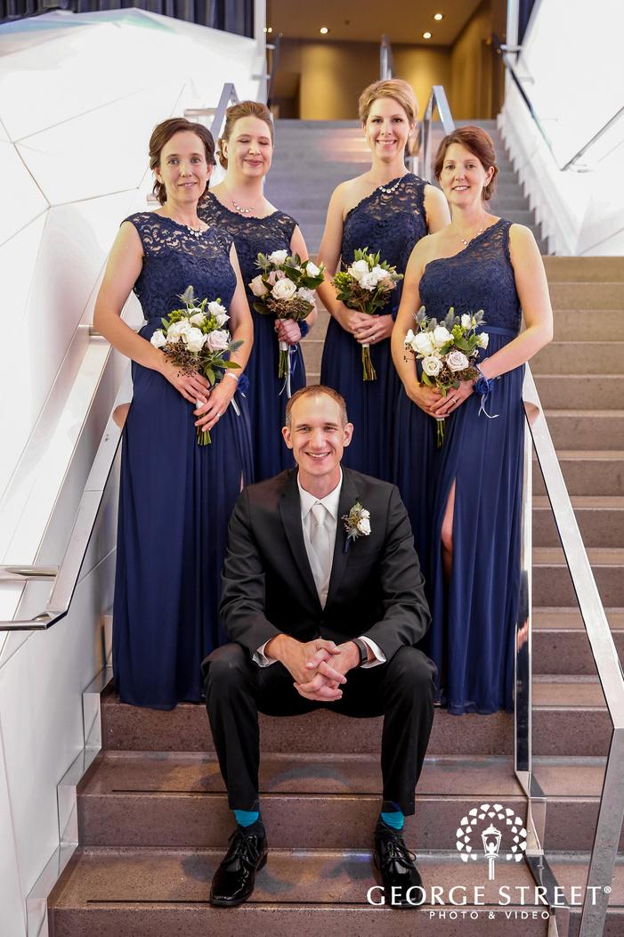 gorgeous bridesmaids in minneapolis wedding photo