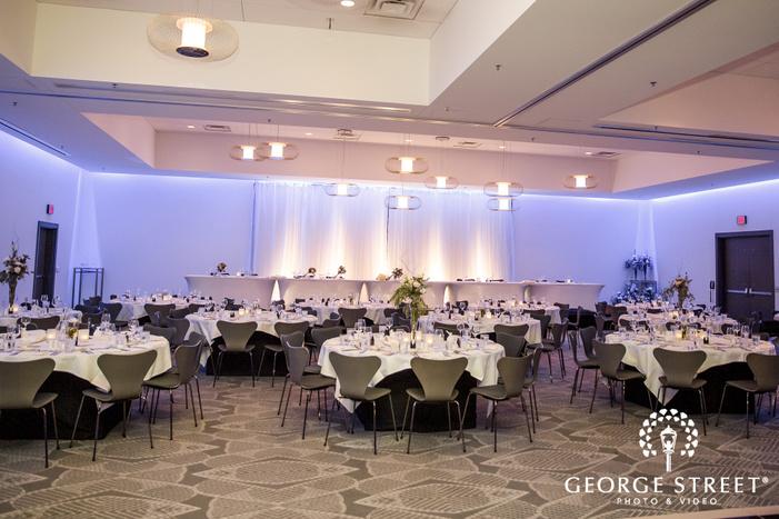 vintage reception hall setup at radisson blu mall of america minneapolis