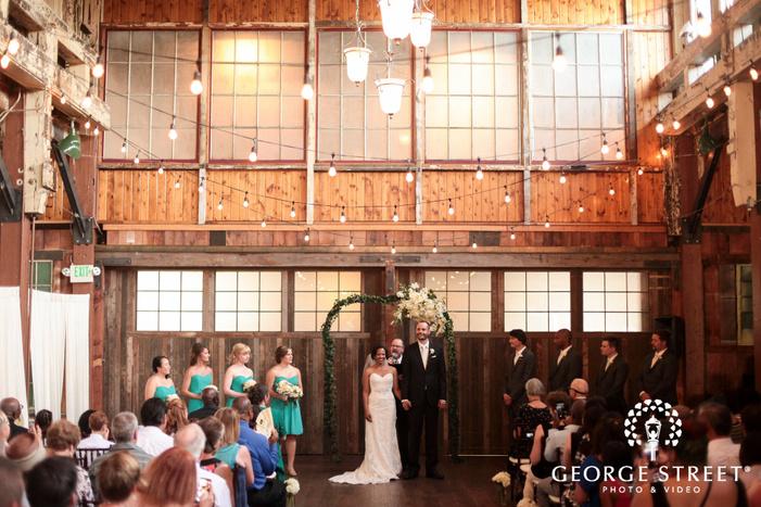 Sodo Park indoor wooden wedding ceremony
