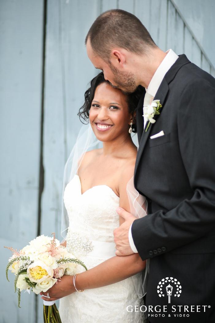airy bride and groom outdoor wedding portraits