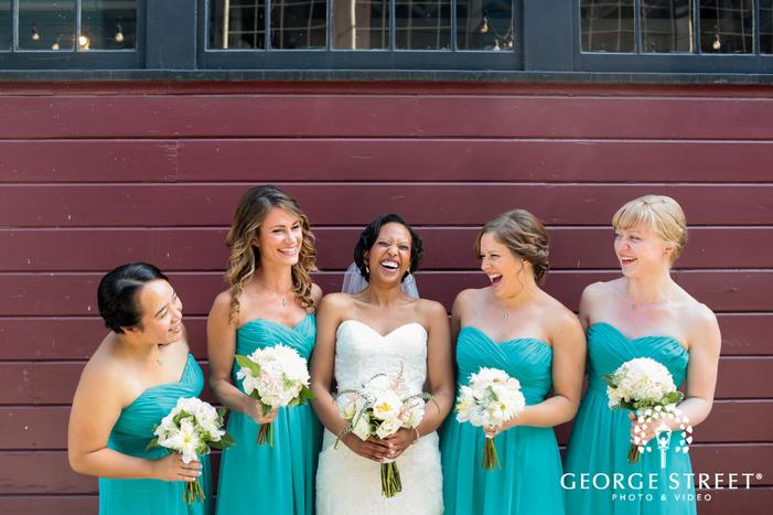 cute candid bridesmaid group portraits
