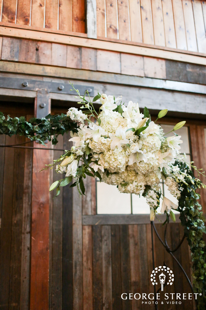 floral wedding ceremony arch inspiration