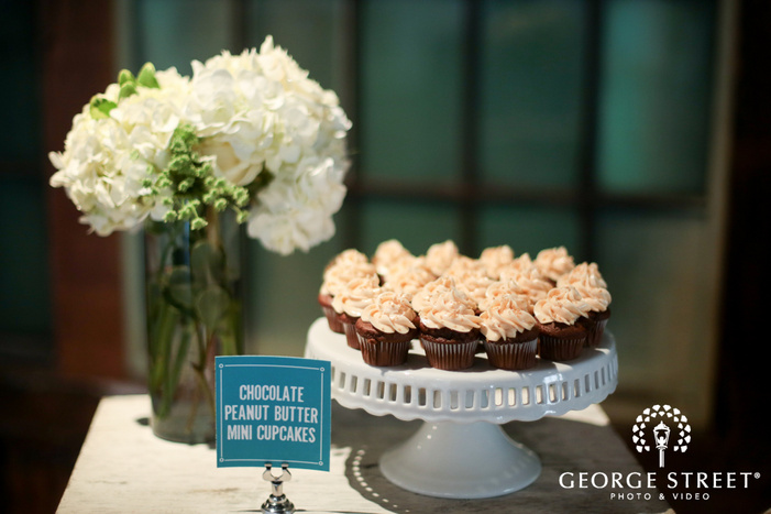mini cupcakes wedding dessert table inspiration