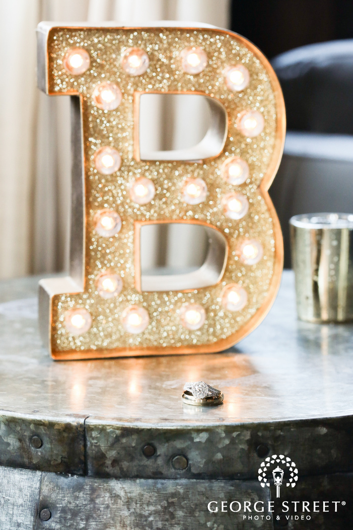 personalized initial wedding decor ring shot