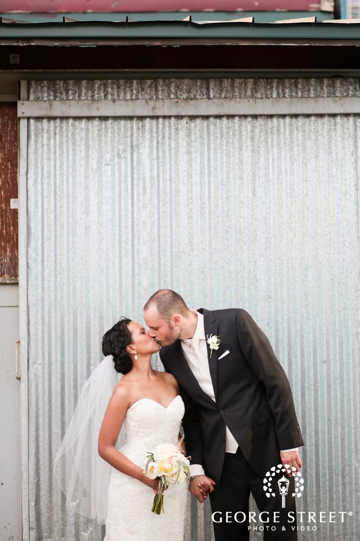 rustic bride and groom outdoor wedding portraits