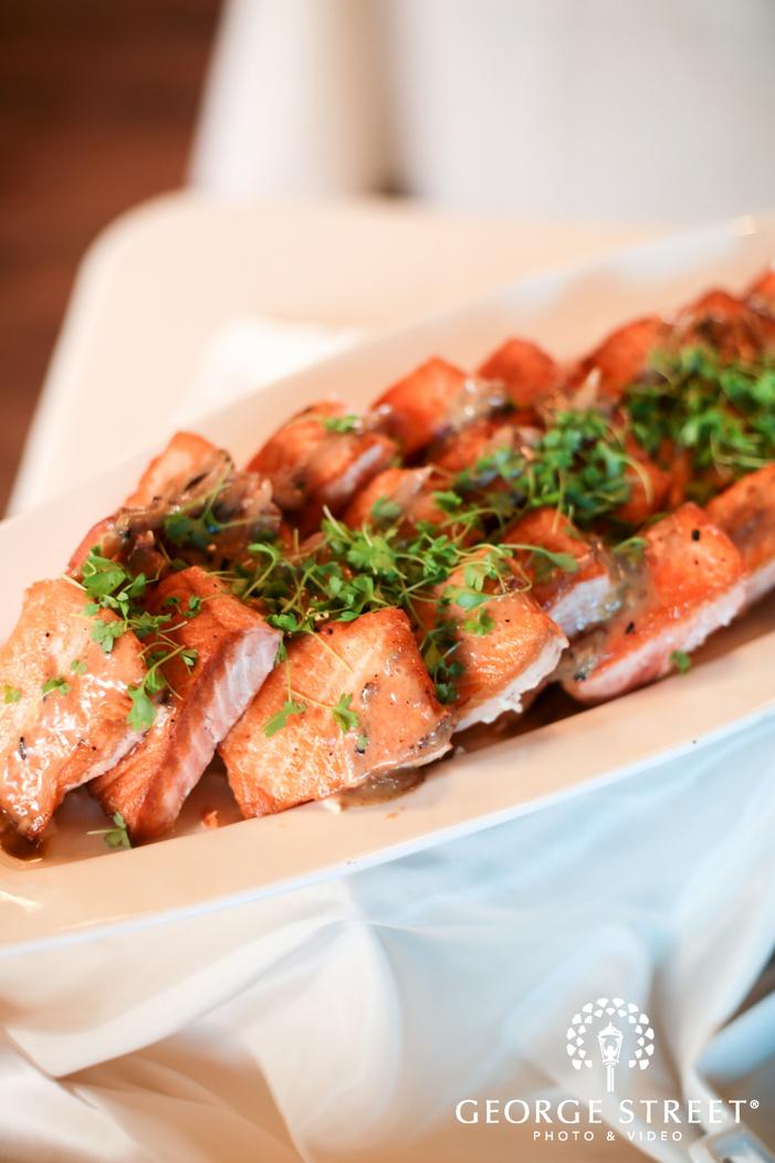 salmon wedding dinner