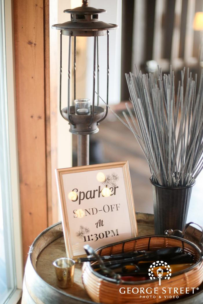 sparkler sendoff wedding props