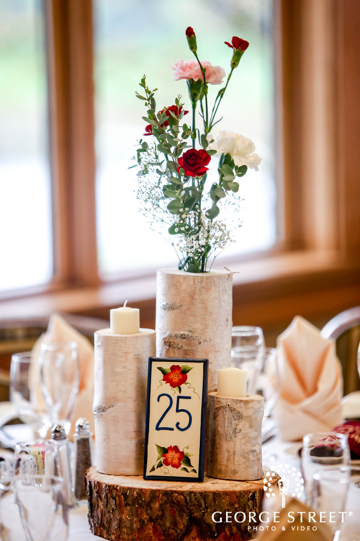 cute reception table details wedding photo