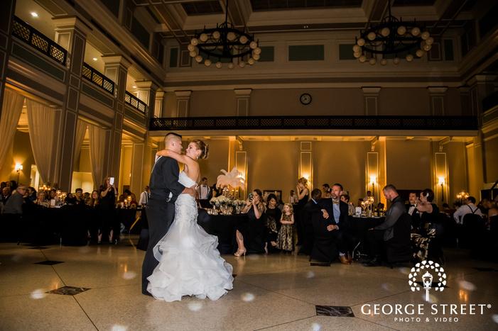 adorable bride and groom reception dance wedding photography