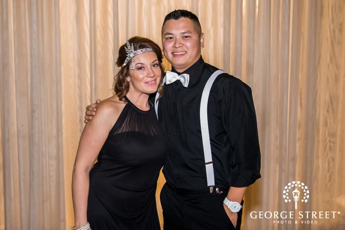 beautiful groom and bridesmaid wedding photography