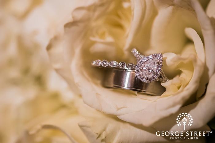 classy bride and groom rings wedding photos