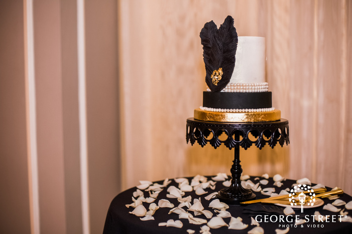 elegant wedding cake wedding photo