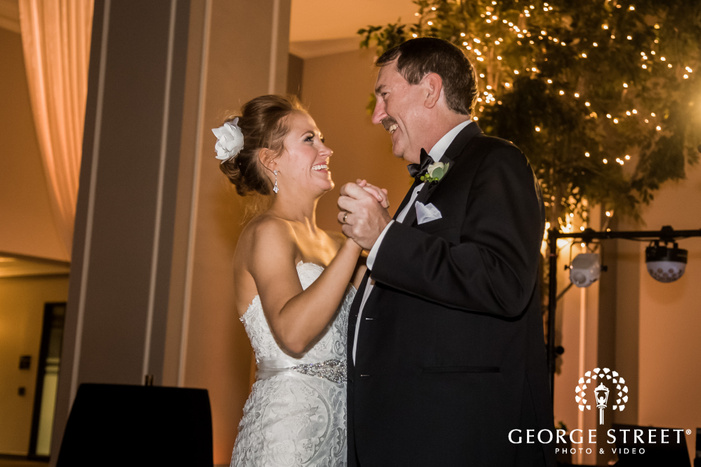 happy bride and father dance wedding photography