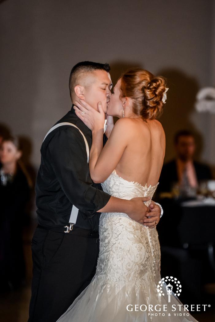 loving bride and groom wedding photos