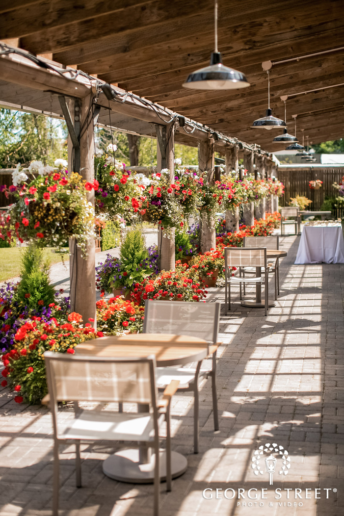 mesmerizing reception venue corrdior at kiana lodge wedding photo