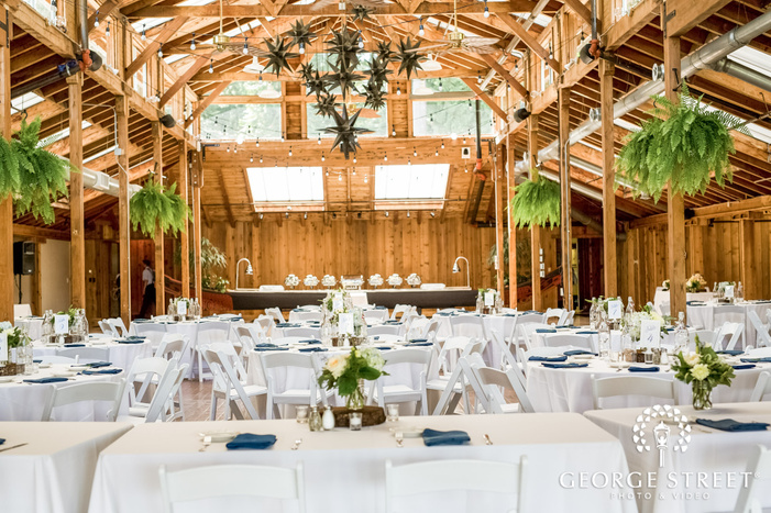 vintage reception hall setup at kiana lodge in seatlte wedding photo