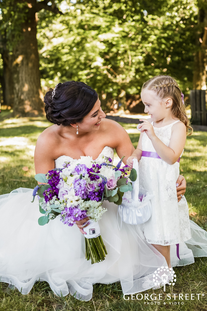 adorable bride and cute child
