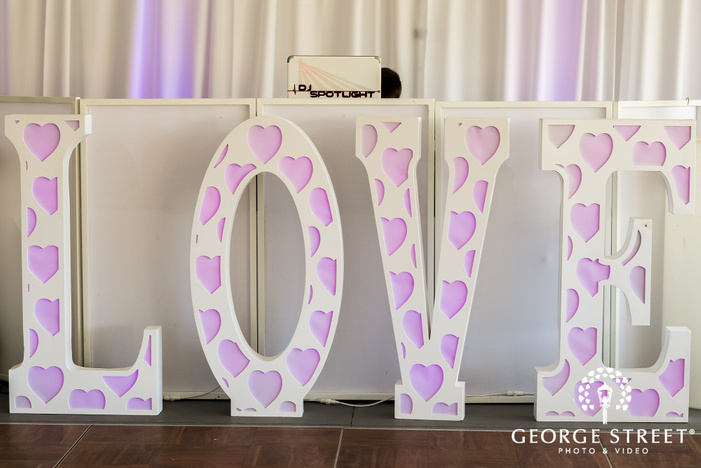 elegant wedding reception detail