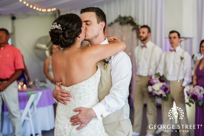 lovable bride and groom reception dance