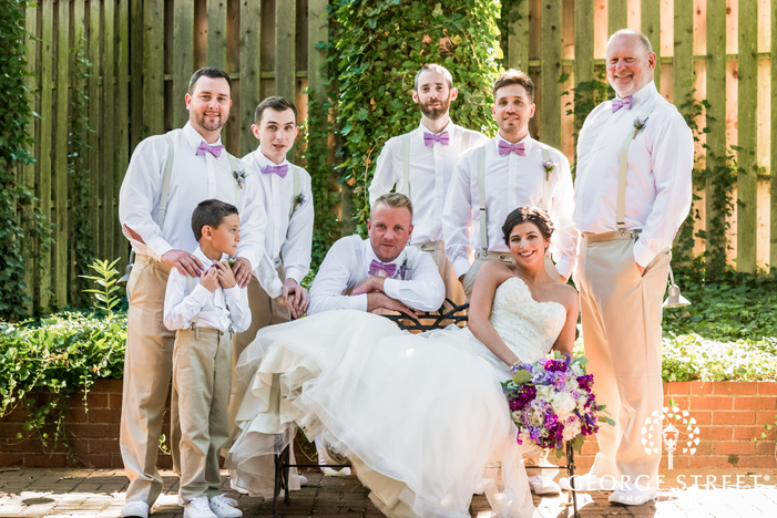 lovely bride and groomsmen